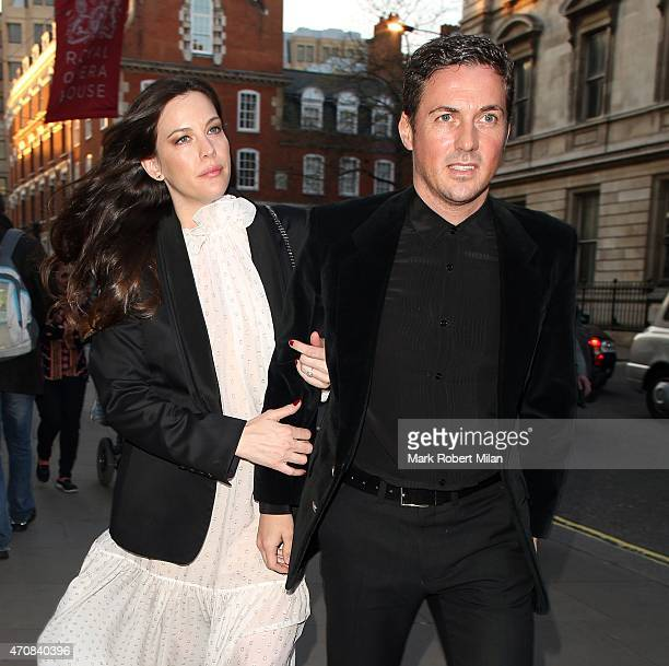 Liv Tyler and Dave Gardner sighting on April 23 2015 in London England