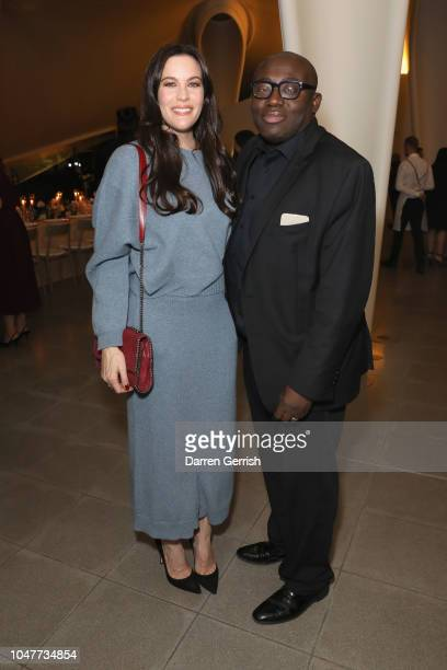 Liv Tyler and Edward Enninful toast goops's 10th anniversary and the launch of the goop London popup at the Serpentine Sackler Gallery on October 8...