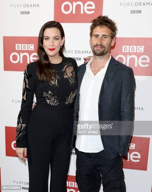 Liv Tyler and Edward Holcroft attending the 'Gunpowder' preview screening at BAFTA on September 26 2017 in London England