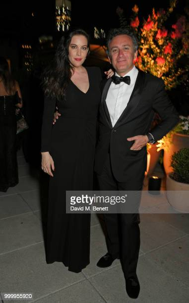 Liv Tyler and Formula E CEO Alejandro Agag attend the 2017/18 ABB FIA Formula E Championship Awards Dinner following the Formula E 2018 Qatar Airways...