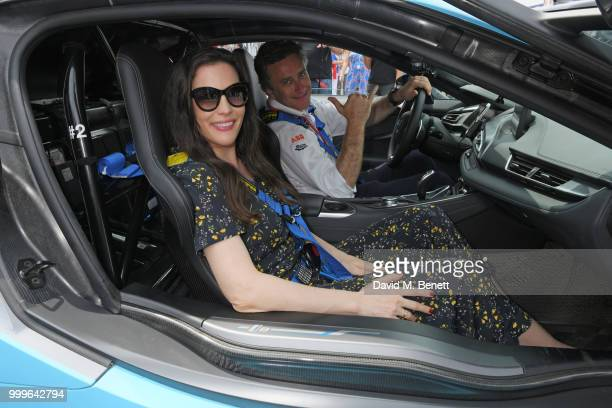 Liv Tyler and Formula E CEO Alejandro Agag attend the Formula E 2018 Qatar Airways New York City EPrix the double header season finale of the 2017/18...