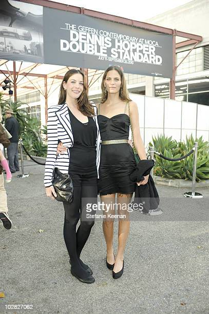 Liv Tyler and Frankie Rayder attend the MOCA Opening Reception for Dennis Hopper Double Standard at The Geffen Contemporary at MOCA on July 10, 2010...