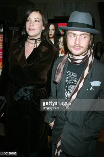 """Liv Tyler and husband Royston Langdon during """"The Dreamers"""" New York Premiere - Inside Arrivals at The Beekman Theatre in New York City, New York,..."""