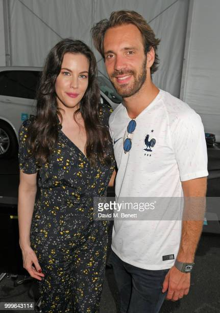 Liv Tyler and JeanEric Vergne attend the Formula E 2018 Qatar Airways New York City EPrix the double header season finale of the 2017/18 ABB FIA...