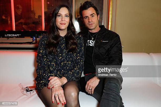 Liv Tyler and Justin Theroux attend the GQ Men of the year Award 2016 after show party at Komische Oper on November 10 2016 in Berlin Germany