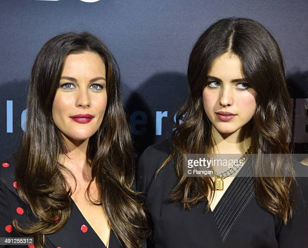 Liv Tyler and Margaret Qualley attend HBO's 'The Leftovers' Season 2 Premiere at Paramount Theatre on October 3 2015 in Austin Texas