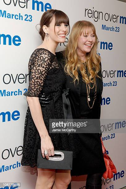 Liv Tyler and mother Bebe Buell during Reign Over Me New York City Premiere Inside Arrivals at Skirball Center for the Performing Arts at NYU in New...