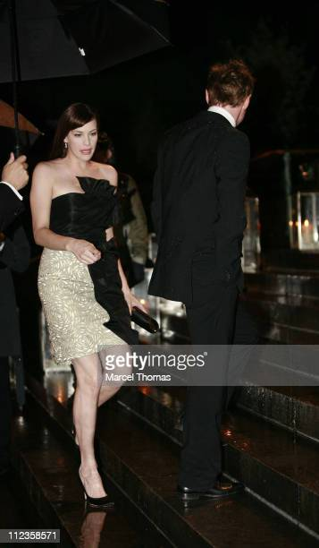 Liv Tyler and Royston Langdon during Elton John's 60th Birthday Party at St John the Divine Church in New York City, New York, United States.