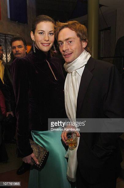 Liv Tyler and Royston Langdon during The 2004 New York Film Critics Circle 69th Annual Awards Dinner - Presentation at Noche Restaurant in New York...