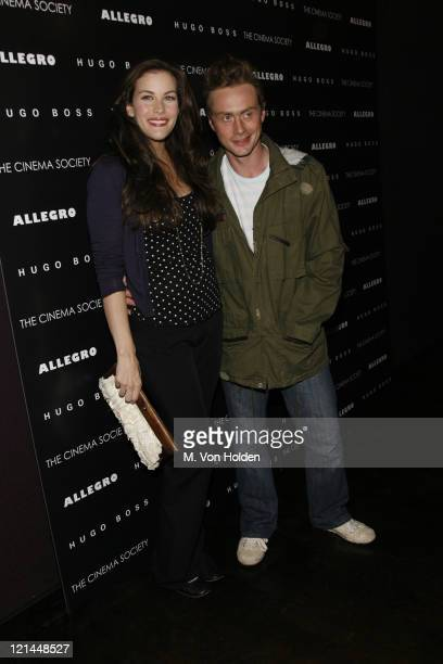 "Liv Tyler and Royston Langdon during The Cinema Society and Hugo Bross Present the Premiere of ""Allegro"" at Tribeca Grand/Soho Grand in New York, New..."