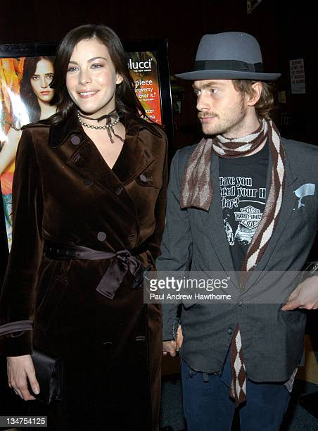 "Liv Tyler and Royston Langdon during ""The Dreamers"" Premiere - New York - Inside Arrivals at Beekman Theater in New York City, New York, United..."