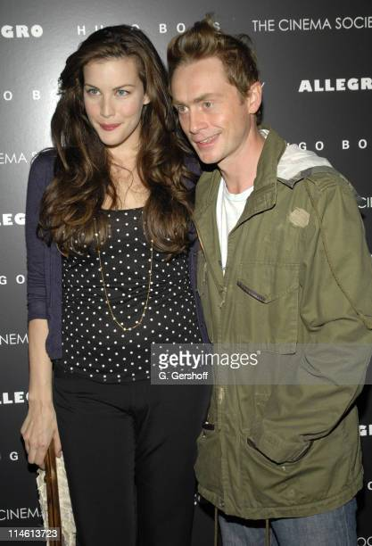 """Liv Tyler and Royston Langdon of Spacehog during The Cinema Society and Hugo Boss presents the premiere of """"Allegro"""" - Arrivals at Tribeca Grand..."""
