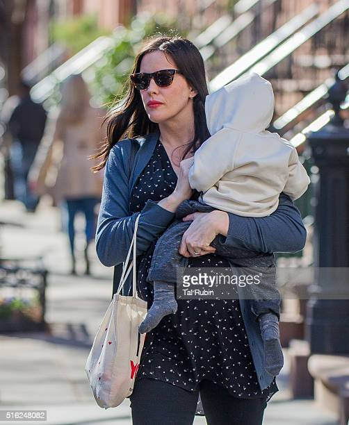 Liv Tyler and son Sailor are seen on March 17 2016 in New York City