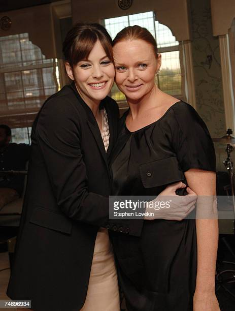 Liv Tyler and Stella McCartney at the Bergdorf Goodman in New York City New York
