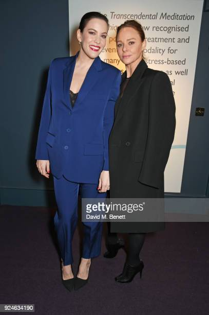 Liv Tyler and Stella McCartney attend the launch of Bob Roth's 'Strength in Stillness' hosted by Stella McCartney and Liv Tyler at Wellington Arch on...