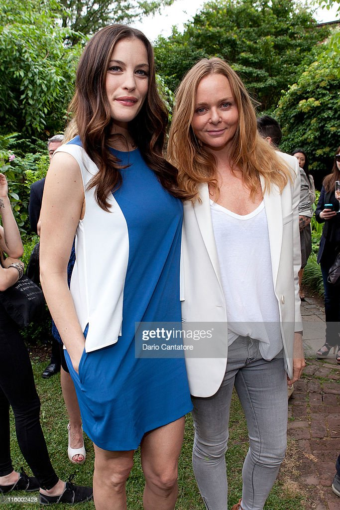 Liv Tyler and Stella McCartney attend the Stella McCartney Spring 2012 Presentation at a Private Location on June 13, 2011 in New York City.