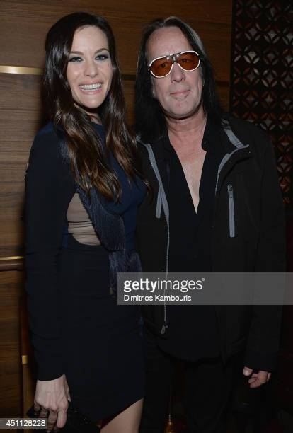 Liv Tyler and Todd Rundgren attend The Leftovers premiere after party at TAO on June 23 2014 in New York City
