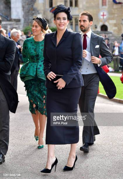 Liv Tyler arrives ahead of the wedding of Princess Eugenie of York to Jack Brooksbank at Windsor Castle on October 12 2018 in Windsor England