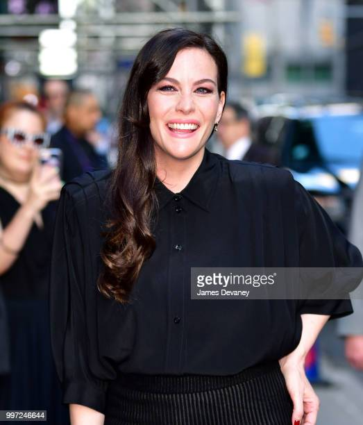 Liv Tyler arrives at 'The Late Show With Stephen Colbert' at the Ed Sullivan Theater on July 12 2018 in New York City