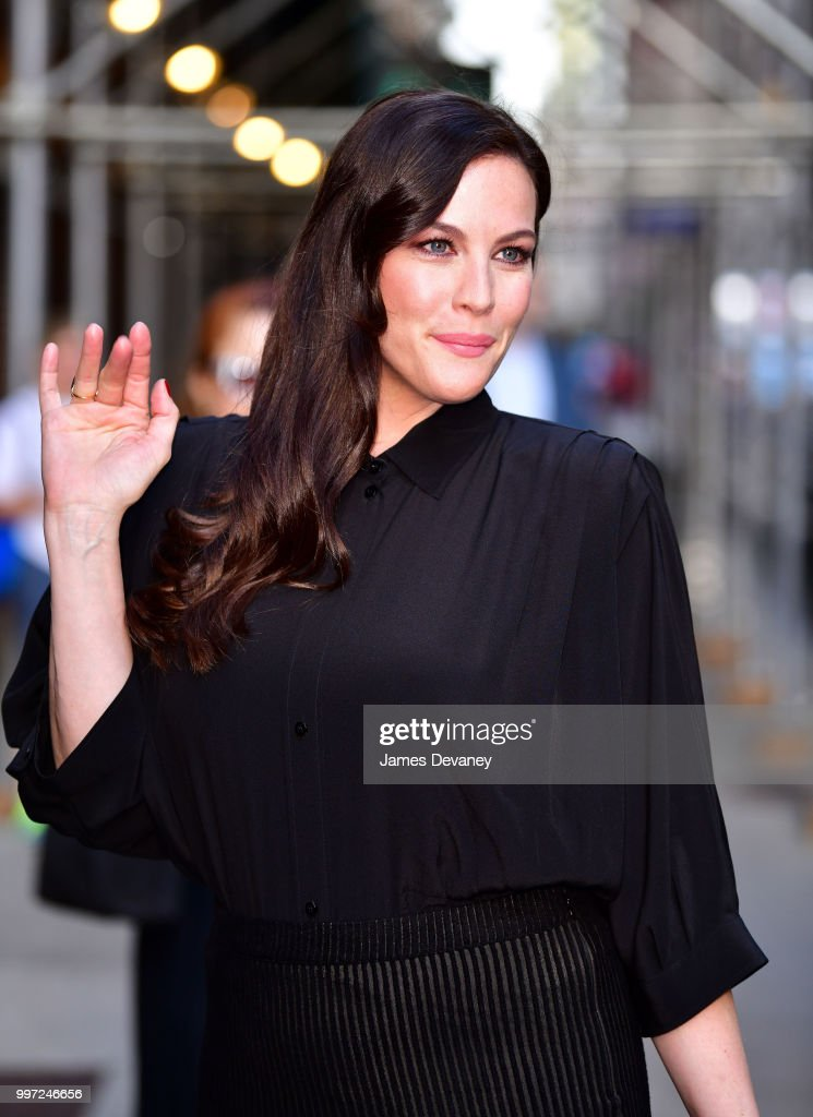 Liv Tyler arrives at 'The Late Show With Stephen Colbert' at the Ed Sullivan Theater on July 12, 2018 in New York City.