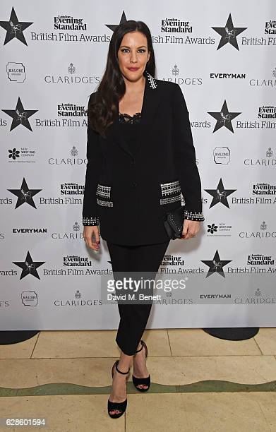 Liv Tyler arrives at The London Evening Standard British Film Awards at Claridge's Hotel on December 8 2016 in London England