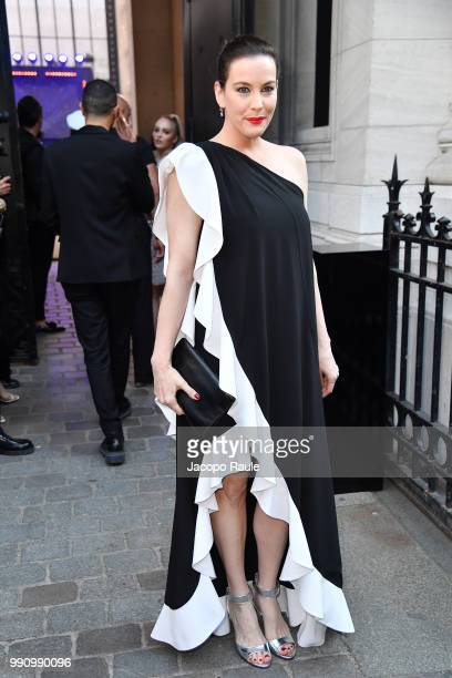 Liv Tyler arrives at the 'Vogue Foundation Dinner 2018' at Palais Galleria on July 3 2018 in Paris France