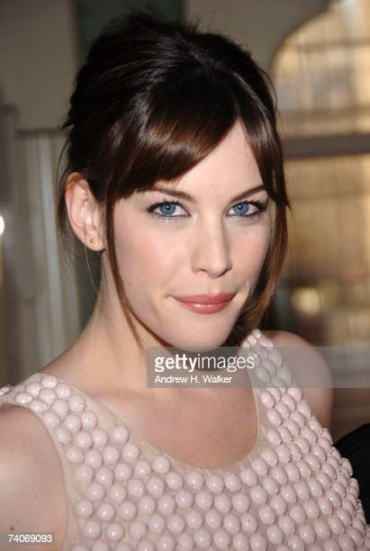 Liv Tyler attends a cocktail party for Stella McCartney hosted by Tyler Helena Christensen and Jessica Seinfeld at Bergdorf Goodman on May 3 2007 in...