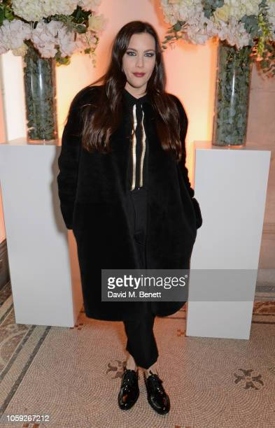 Liv Tyler attends a party celebrating Edward Enninful's one year anniversary as EditorinChief of British Vogue at The National Portrait Gallery on...