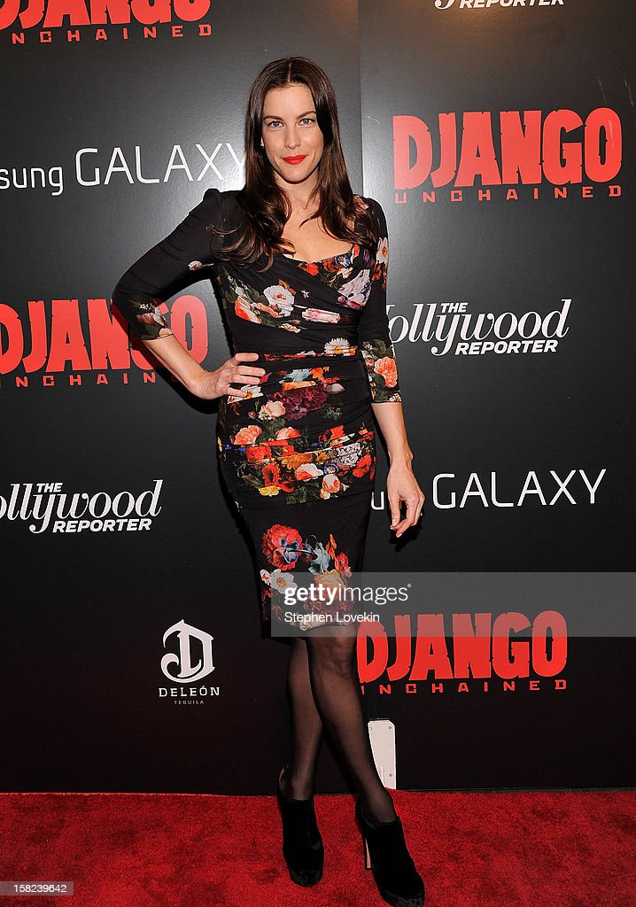 Liv Tyler attends a screening of 'Django Unchained' hosted by The Weinstein Company with The Hollywood Reporter, Samsung Galaxy and The Cinema Society at Ziegfeld Theater on December 11, 2012 in New York City.