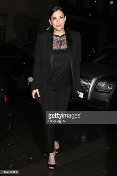 Liv Tyler attends Ara Vartanian x Kate Moss launch party on May 17 2017 in London England