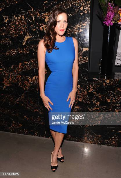 Liv Tyler attends the after party for the Cinema Society Grey Goose screening of The Ledge at Penthouse at Dream Downtown on June 21 2011 in New York...
