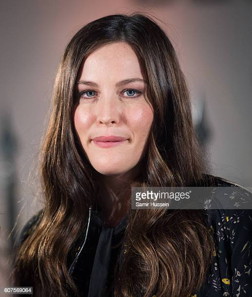 Liv Tyler attends the Belstaff Presentation during London Fashion Week Spring/Summer collections 2016/2017 on September 18 2016 in London United...