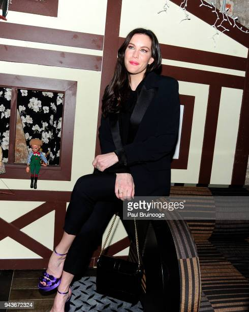 Liv Tyler attends The Cinema Society Gemfields host the after party for IFC Midnight's 'Wildling' at Alley Cat Amateur Theatre at The Beekman on...