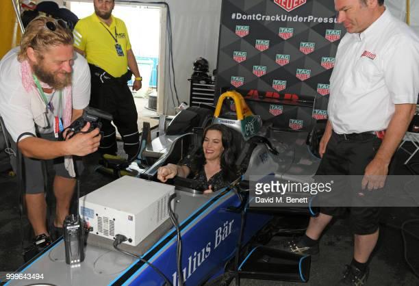 Liv Tyler attends the Formula E 2018 Qatar Airways New York City EPrix the double header season finale of the 2017/18 ABB FIA Formula E Championship...