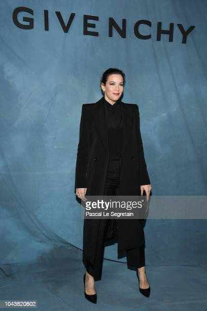 Liv Tyler attends the Givenchy show as part of the Paris Fashion Week Womenswear Spring/Summer 2019 on September 30 2018 in Paris France