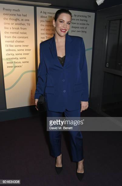 Liv Tyler attends the launch of Bob Roth's 'Strength in Stillness' hosted by Stella McCartney and Liv Tyler at Wellington Arch on February 26 2018 in...