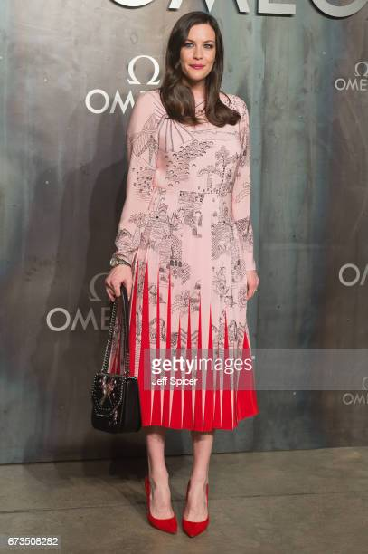 Liv Tyler attends the Lost In Space event to celebrate the 60th anniversary of the OMEGA Speedmaster which has been worn by every piloted NASA...