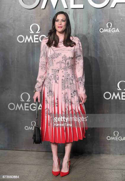 Liv Tyler attends the Lost In Space event to celebrate the 60th anniversary of the OMEGA Speedmaster at the Tate Modern on April 26 2017 in London...