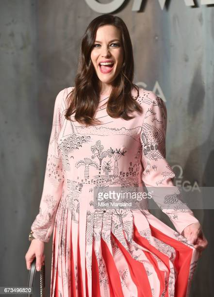 Liv Tyler attends the OMEGA 'Lost In Space' dinner to celebrate the 60th anniversary of the OMEGA Speedmaster which has been worn by every piloted...
