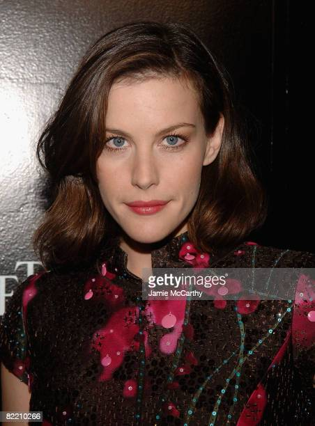 Liv Tyler attends the Piaget Hosts The Limelight ParisNew York Collection event at The Loft and Garden at Rockefeller Center on August 7 2008 in New...