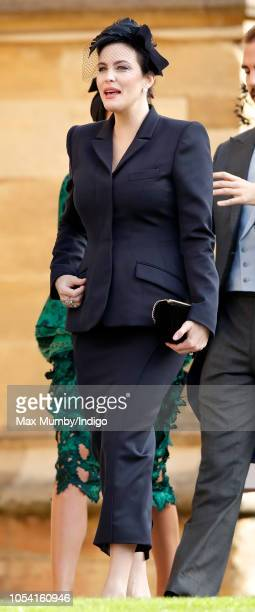 Liv Tyler attends the wedding of Princess Eugenie of York and Jack Brooksbank at St George's Chapel on October 12 2018 in Windsor England