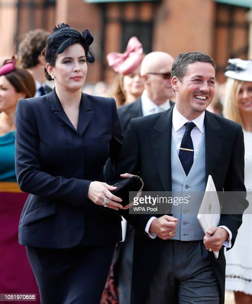 Liv Tyler attends the wedding of Princess Eugenie of York to Jack Brooksbank at St George's Chapel on October 12 2018 in Windsor England
