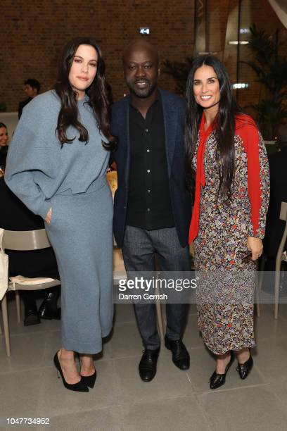 Liv Tyler David Adjaye and Demi Moore toast goops's 10th anniversary and the launch of the goop London popup at the Serpentine Sackler Gallery on...