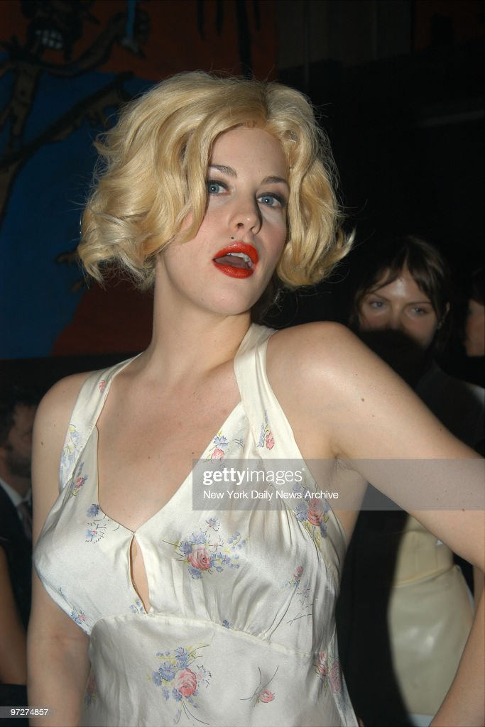 Liv Tyler, dressed as Marilyn Monroe, attends Karolina Kurkova's Halloween party at Lot 61.