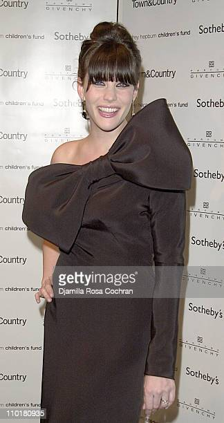 Liv Tyler during 'Audrey Hepburn The Beauty of Compassion' A Charity Auction To Benefit UNICEF at Sotheby's in New York City New York United States