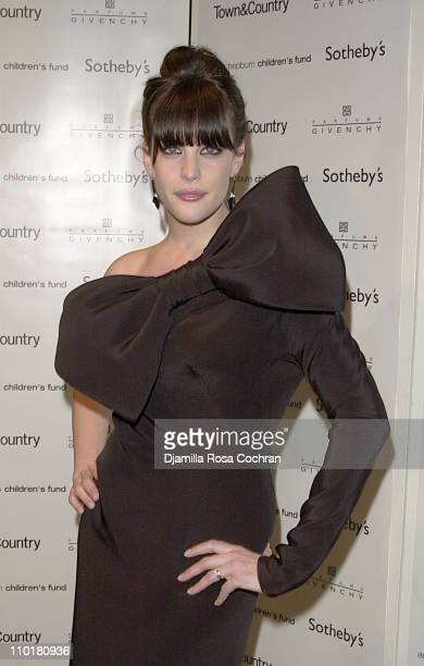 Liv Tyler during Audrey Hepburn The Beauty of Compassion A Charity Auction To Benefit UNICEF at Sotheby's in New York City New York United States