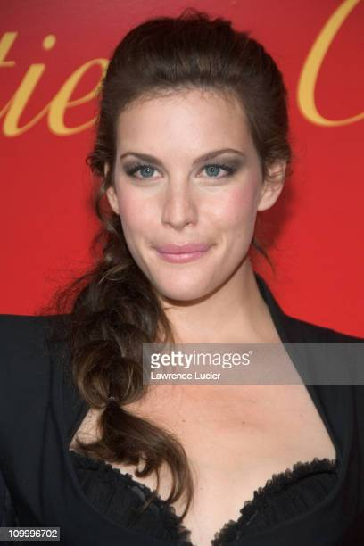 Liv Tyler during Cartier and Interview Magazine Celebrate The Cartier Charity Love Bracelet at The Cartier Mansion in New York City New York United...
