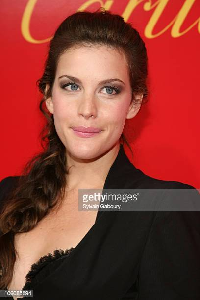 Liv Tyler during Cocktail Party for The Cartier Charity Love Bracelet at Cartier Mansion in New York NY United States