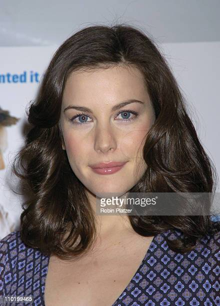 Liv Tyler during 'Jersey Girl' New York Premiere Inside Arrivals at The Ziegfield Theater in New York City New York United States
