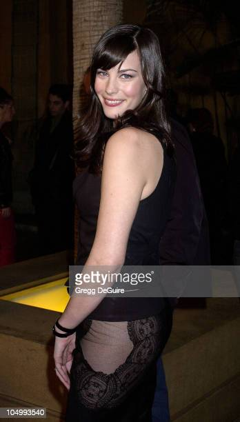 Liv Tyler during 'The Lord Of The Rings The Fellowship Of The Ring' Los Angeles Premiere at The Egyptian Theatre in Hollywood California United States